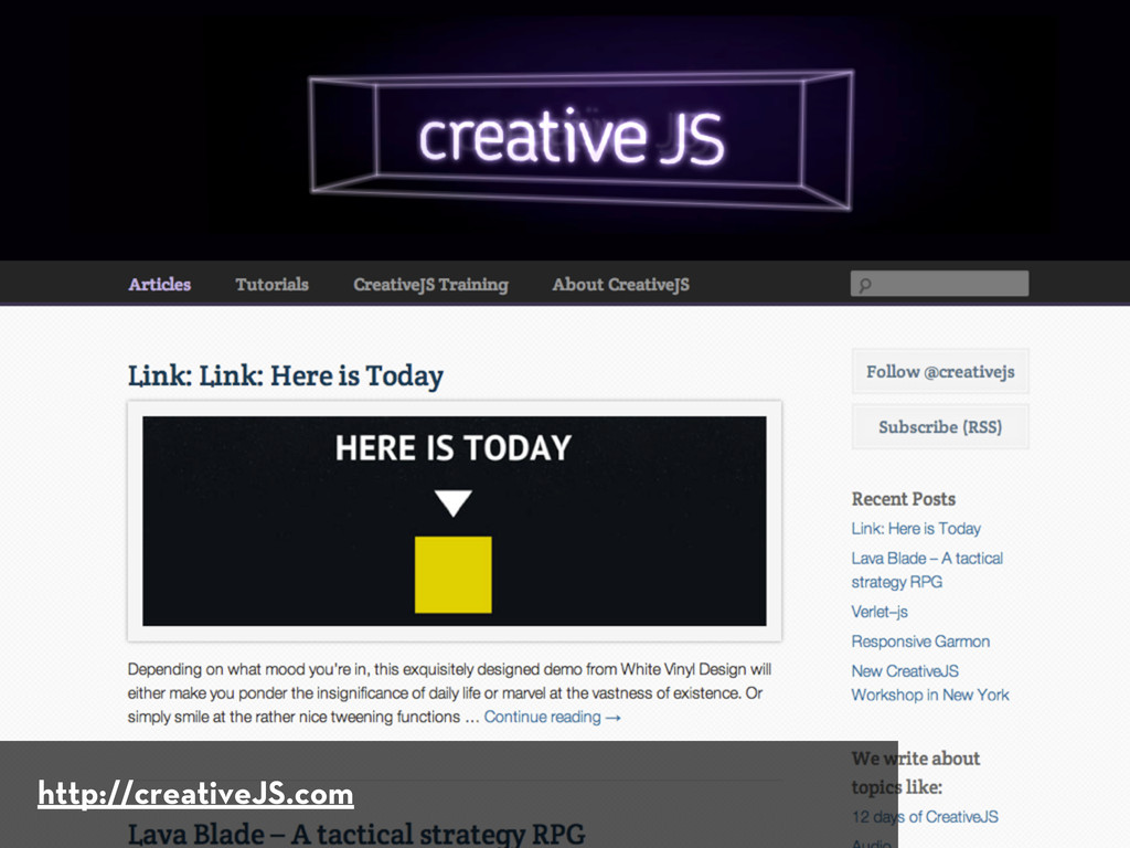 http://creativeJS.com