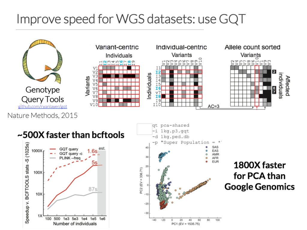 Improve speed for WGS datasets: use GQT