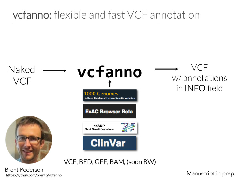 vcfanno: flexible and fast VCF annotation