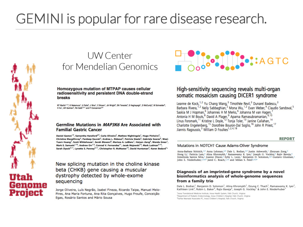 GEMINI is popular for rare disease research. U...