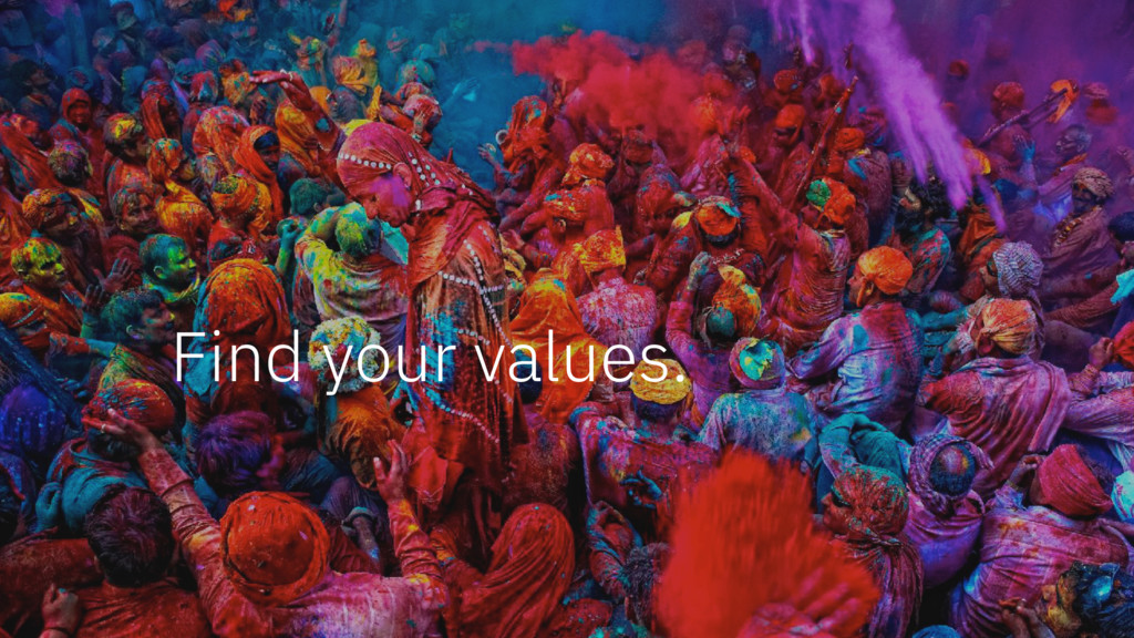 Find your values.