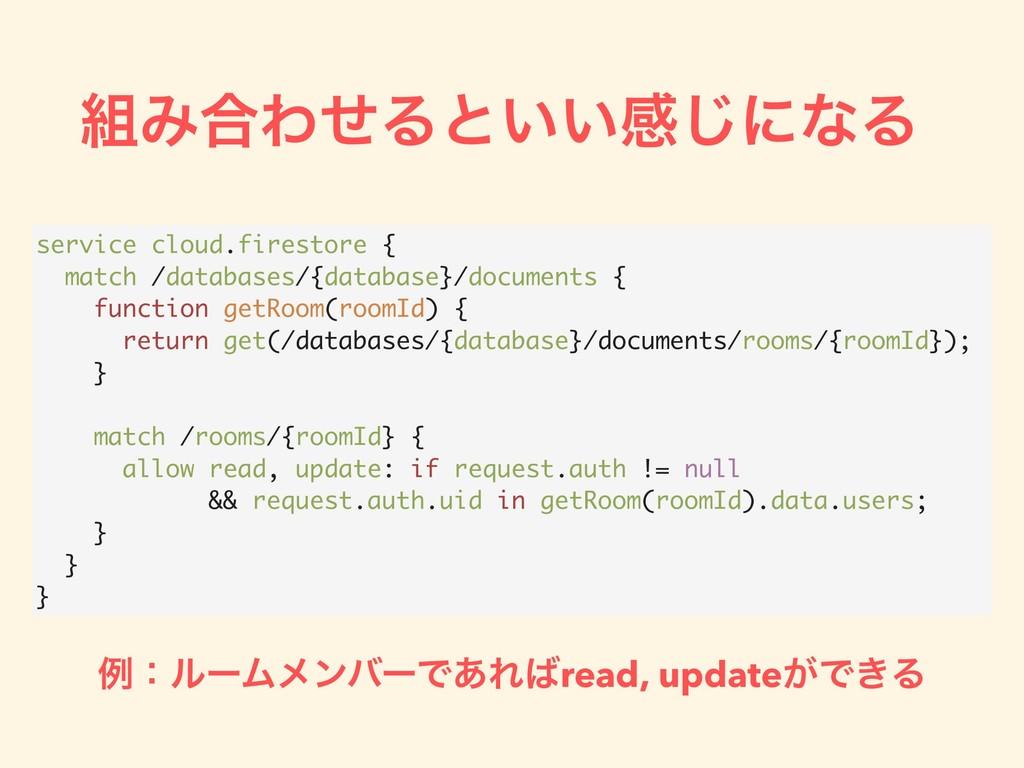 Έ߹ΘͤΔͱ͍͍ײ͡ʹͳΔ service cloud.firestore { match ...