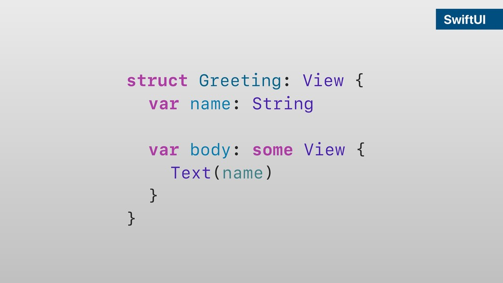 SwiftUI struct Greeting: View { var name: Strin...