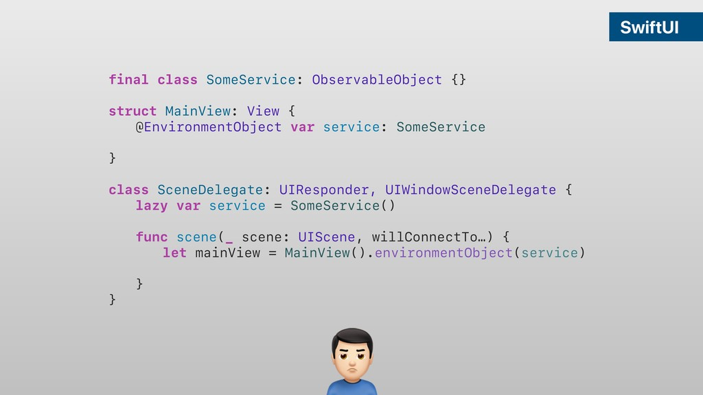 SwiftUI final class SomeService: ObservableObje...