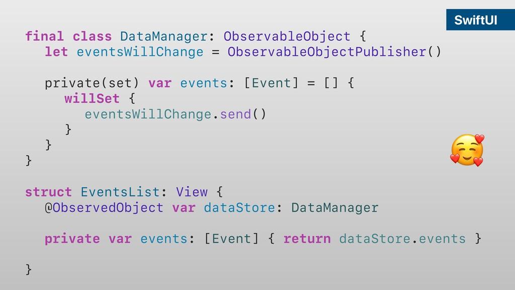 SwiftUI final class DataManager: ObservableObje...