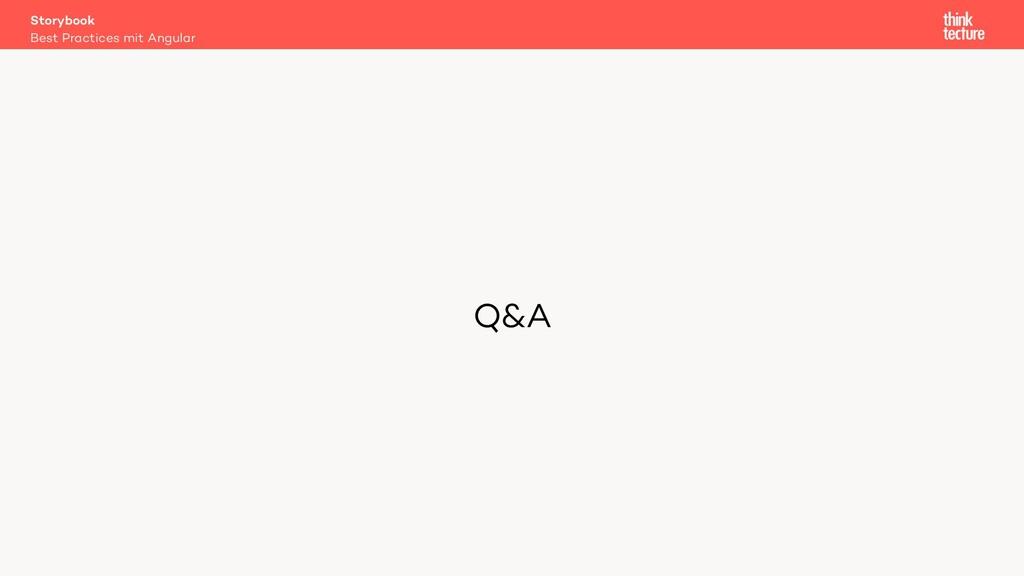 Q&A Storybook Best Practices mit Angular