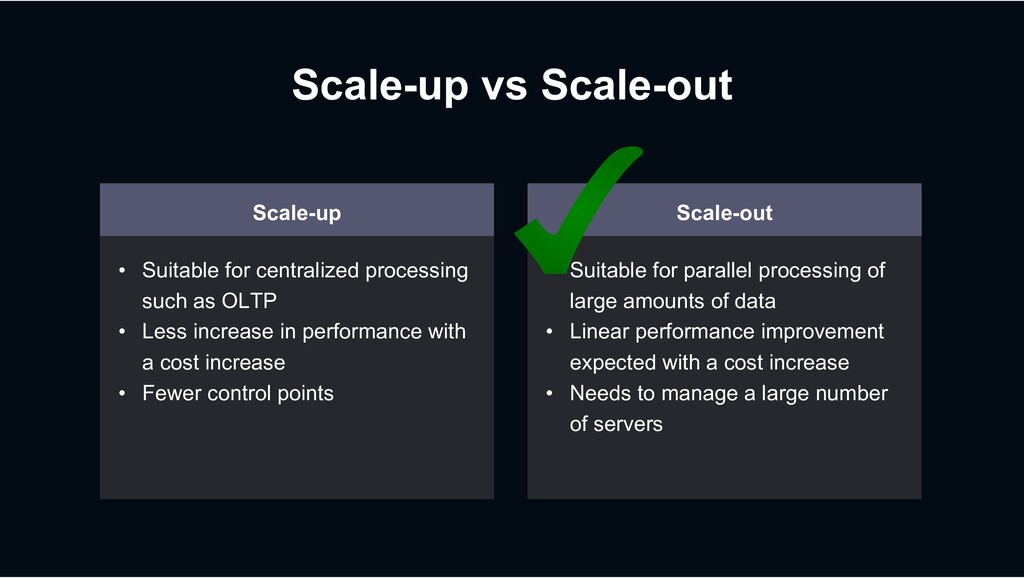 Scale-up vs Scale-out Scale-up • Suitable for c...