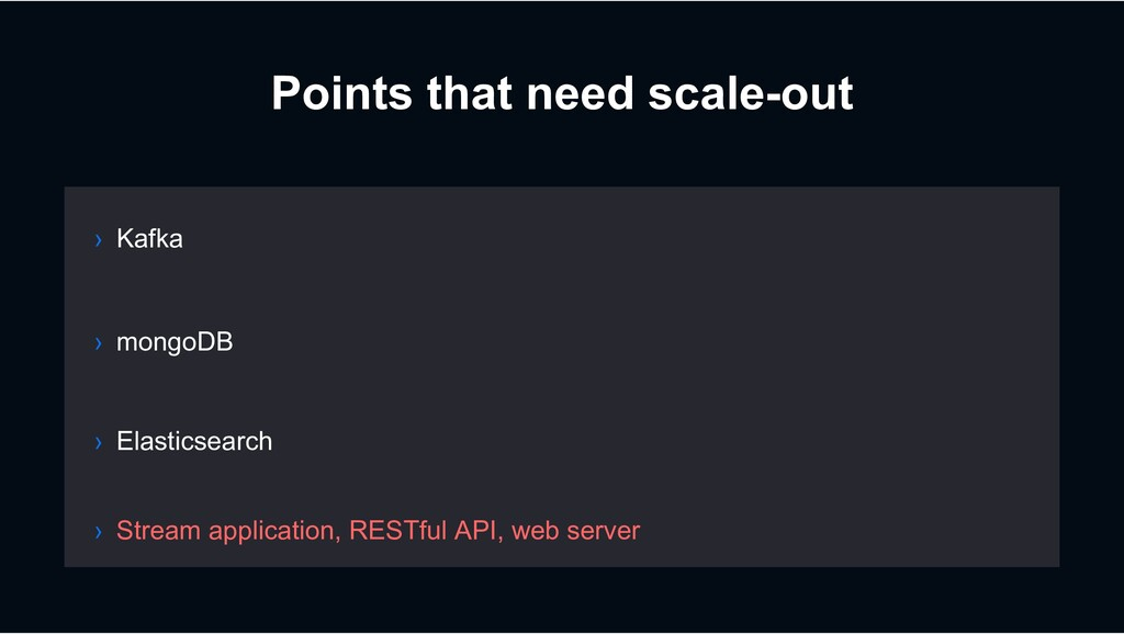Points that need scale-out › mongoDB › Elastics...