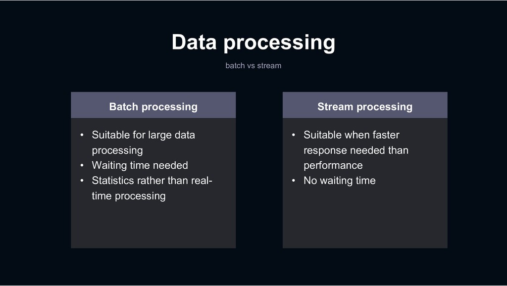 Data processing batch vs stream Batch processin...