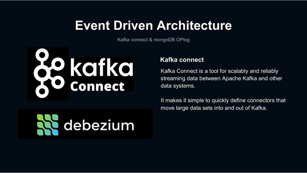 Event Driven Architecture Kafka connect & mongo...