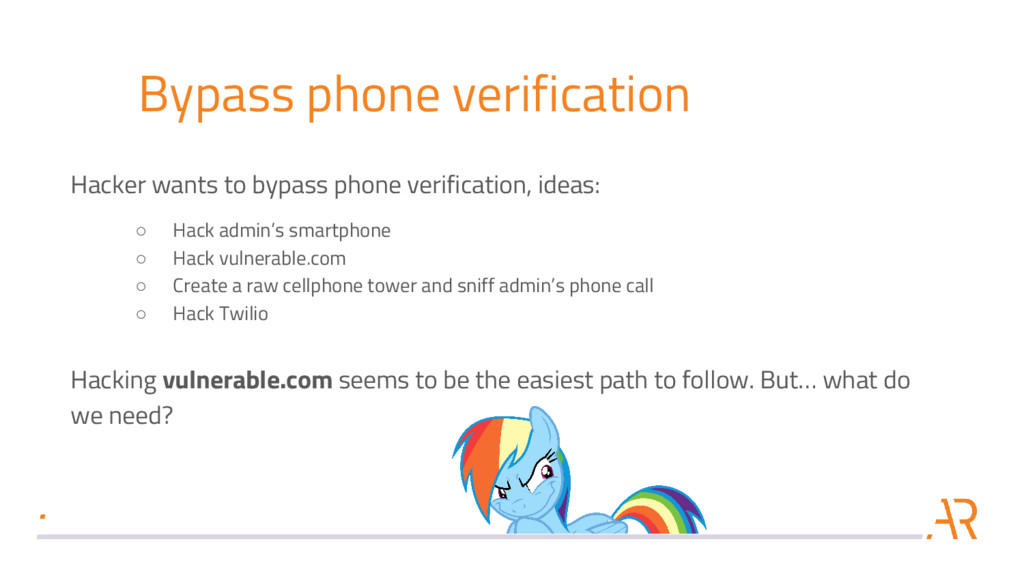 Bypass phone verification Hacker wants to bypas...