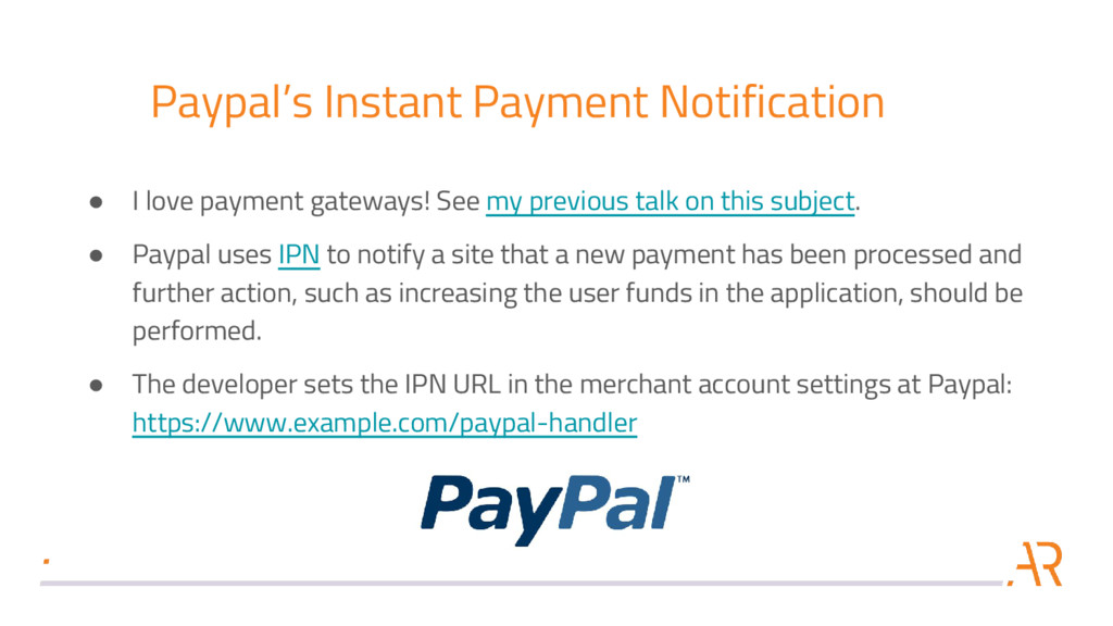 Paypal's Instant Payment Notification ● I love ...
