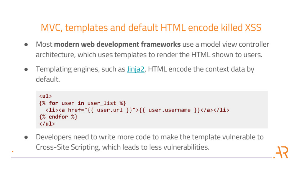 MVC, templates and default HTML encode killed X...
