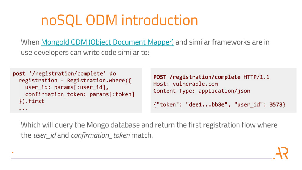 noSQL ODM introduction When MongoId ODM (Object...