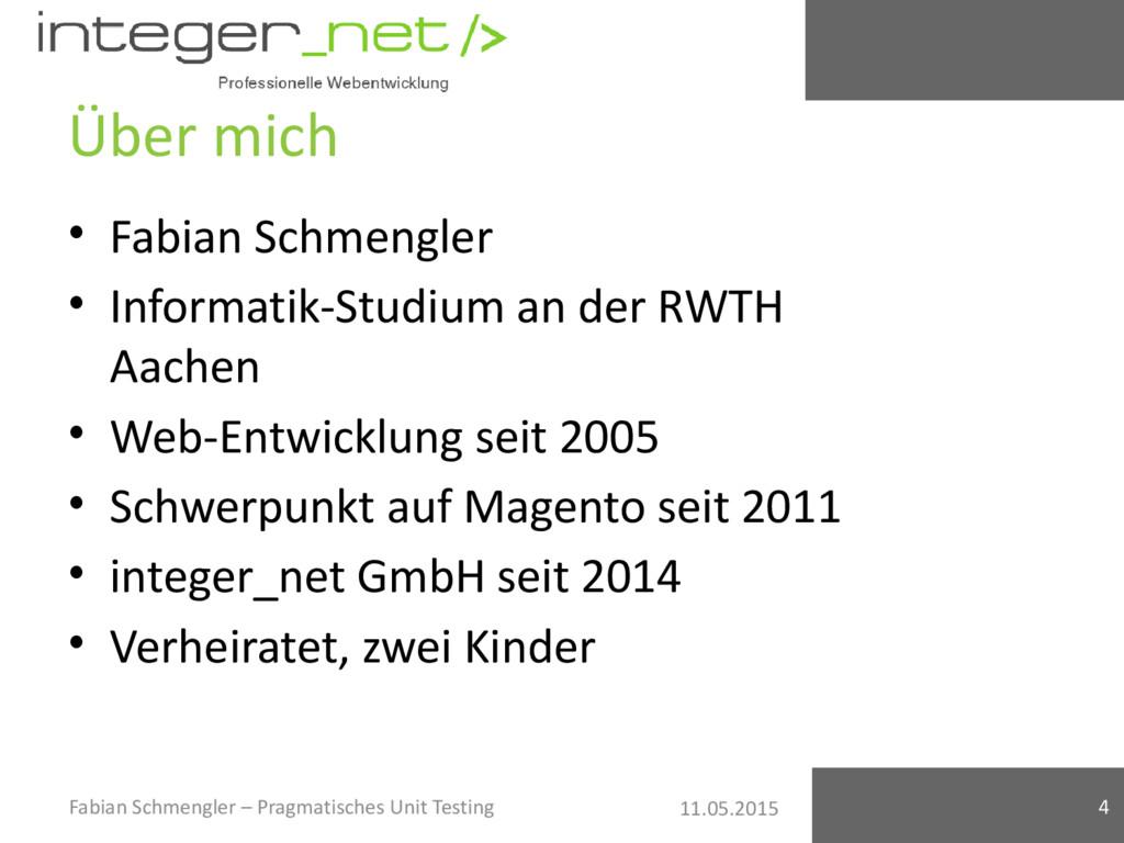 11.05.2015 Über mich • Fabian Schmengler • Info...