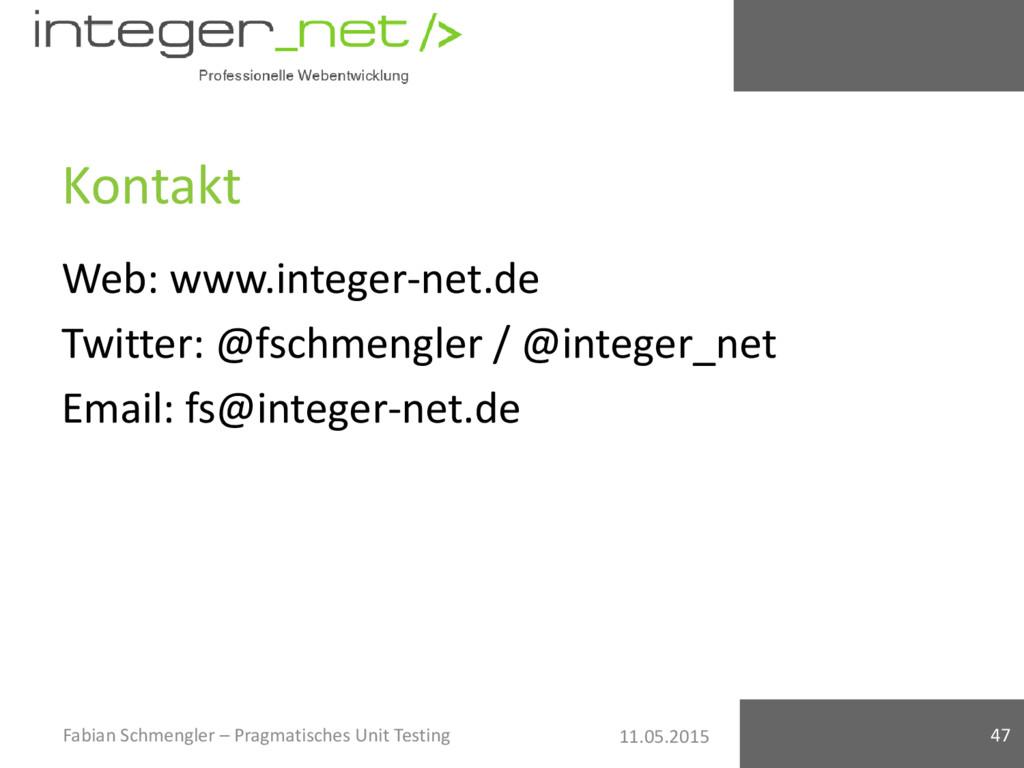 11.05.2015 Kontakt Web: www.integer-net.de Twit...