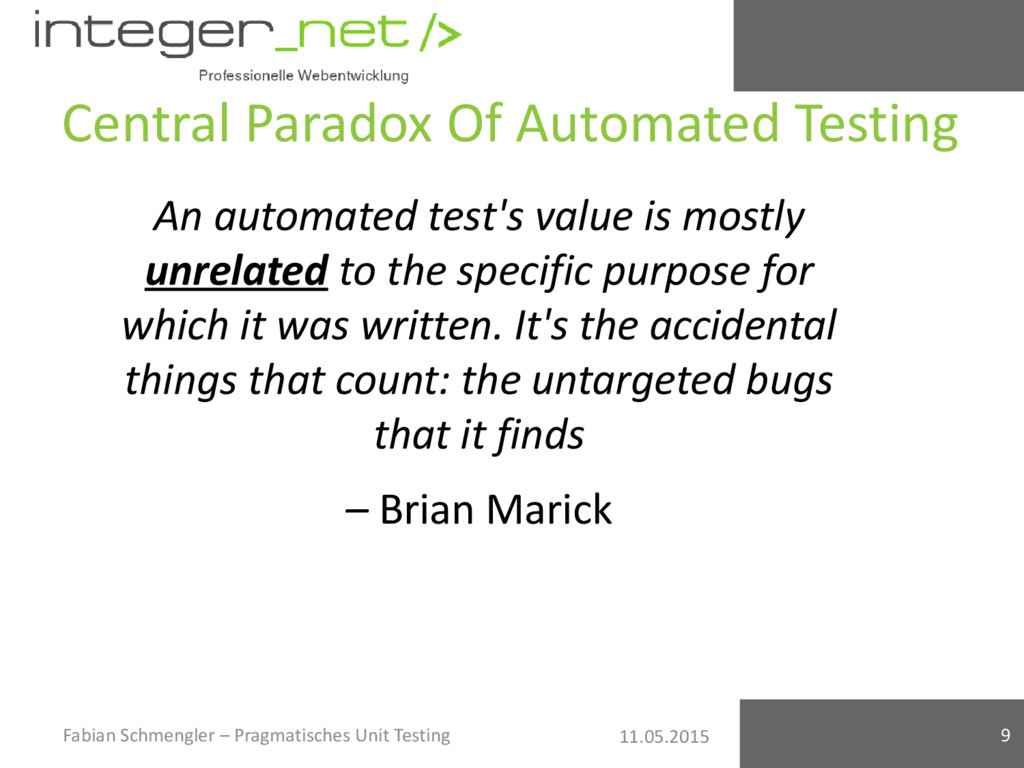 11.05.2015 Central Paradox Of Automated Testing...