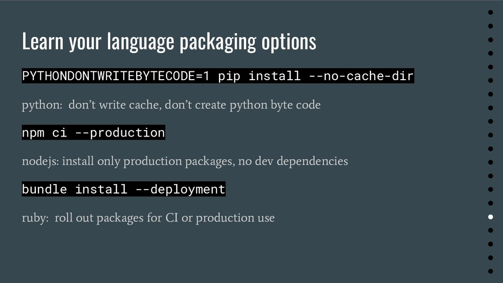 Learn your language packaging options PYTHONDON...