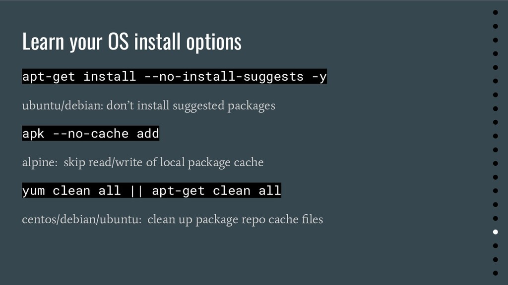 Learn your OS install options apt-get install -...