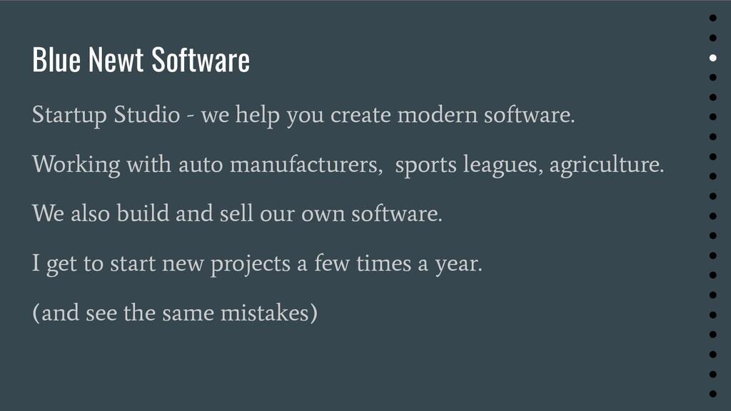 Blue Newt Software Startup Studio - we help you...