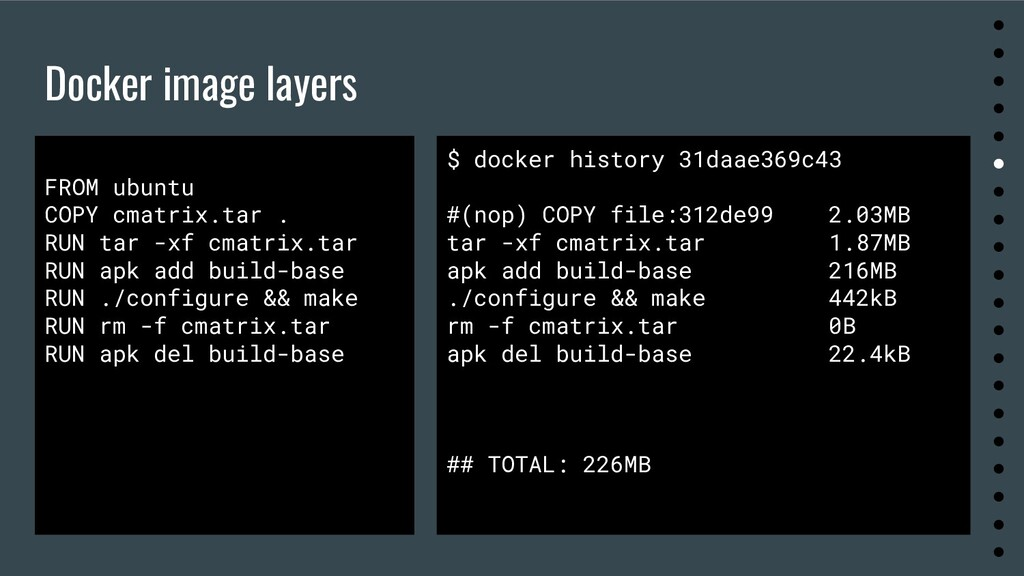 Docker image layers ● ● ● ● ● ● ● ● ● ● ● ● ● ●...