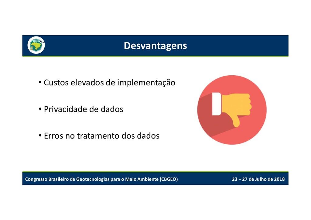 Congresso Brasileiro de Geotecnologias para o M...
