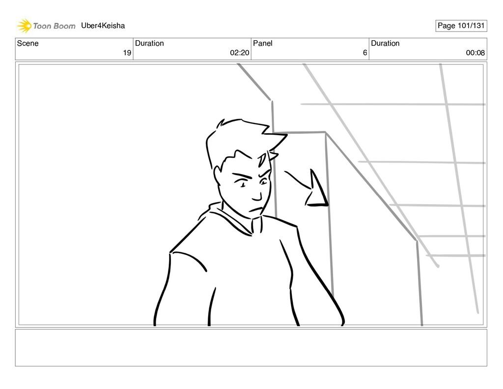 Scene 19 Duration 02:20 Panel 6 Duration 00:08 ...