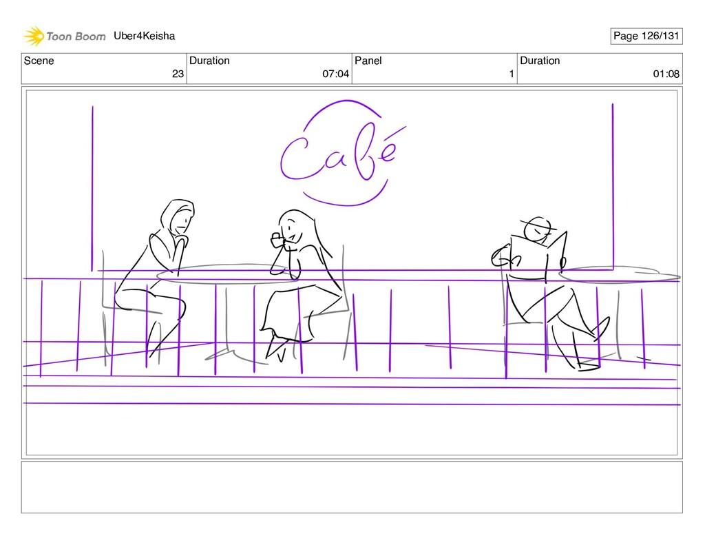 Scene 23 Duration 07:04 Panel 1 Duration 01:08 ...