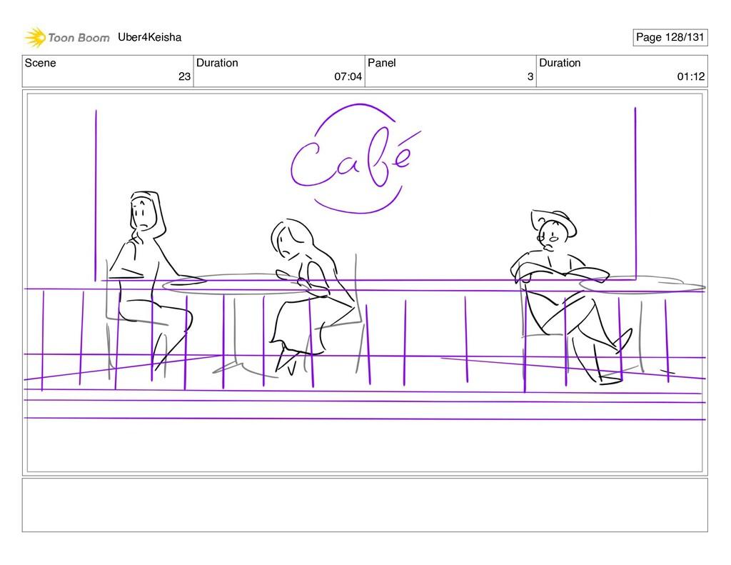 Scene 23 Duration 07:04 Panel 3 Duration 01:12 ...