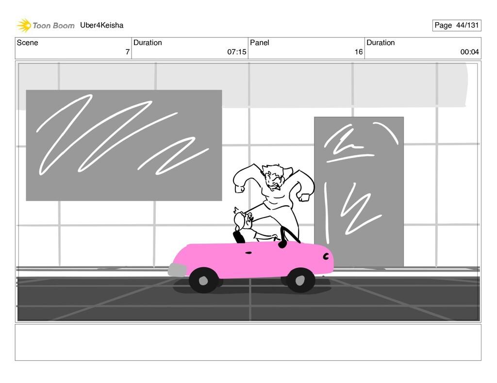 Scene 7 Duration 07:15 Panel 16 Duration 00:04 ...