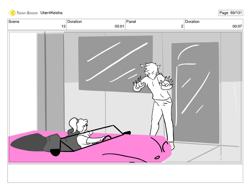 Scene 13 Duration 05:01 Panel 2 Duration 00:07 ...