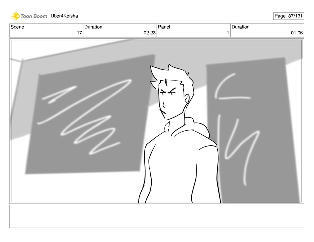 Scene 17 Duration 02:23 Panel 1 Duration 01:06 ...