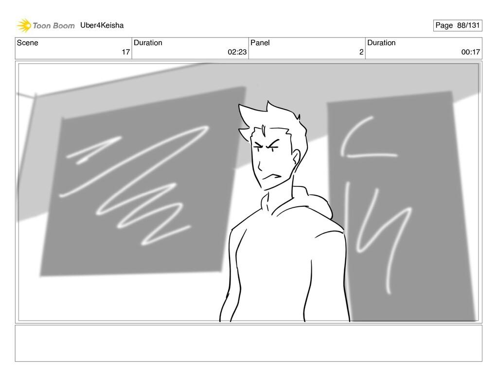 Scene 17 Duration 02:23 Panel 2 Duration 00:17 ...