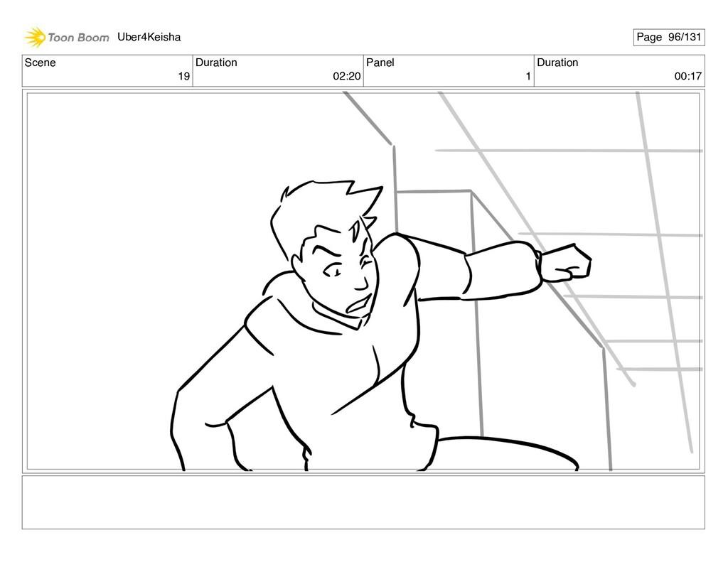 Scene 19 Duration 02:20 Panel 1 Duration 00:17 ...