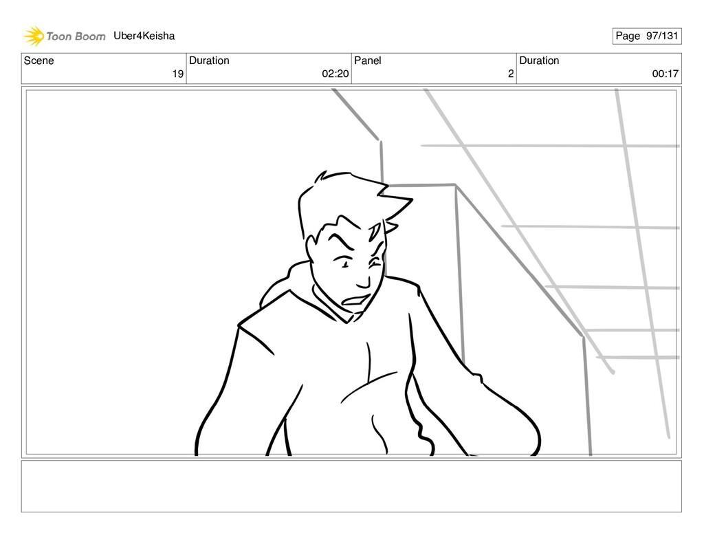 Scene 19 Duration 02:20 Panel 2 Duration 00:17 ...