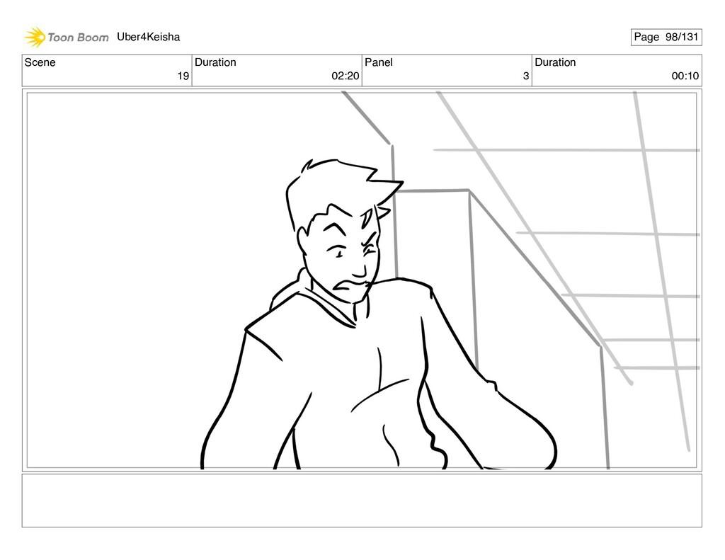 Scene 19 Duration 02:20 Panel 3 Duration 00:10 ...