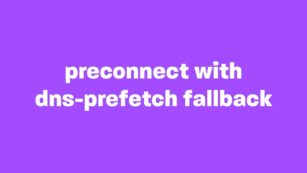 preconnect with
