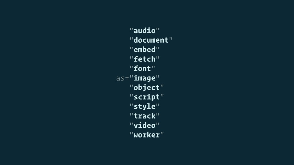 """audio"" ""document"" ""embed"" ""fetch"" ""font"" as=""i..."