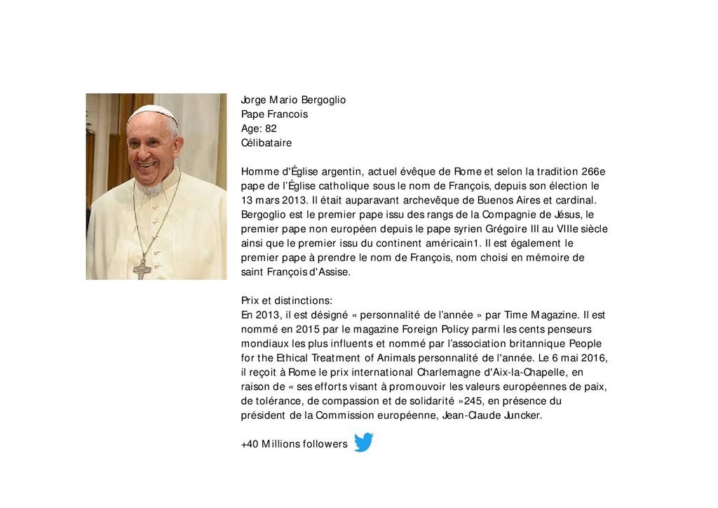 Jorge Mario Bergoglio Pape Francois Age: 82 Cél...