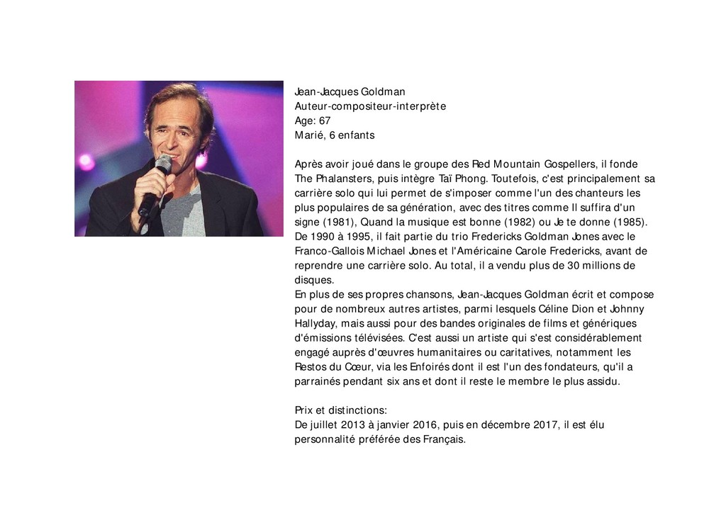 Jean-Jacques Goldman Auteur-compositeur-interpr...