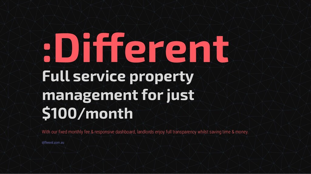 Full service property management for just $100/...
