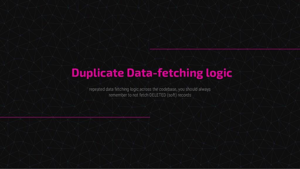 Duplicate Data-fetching logic repeated data fet...
