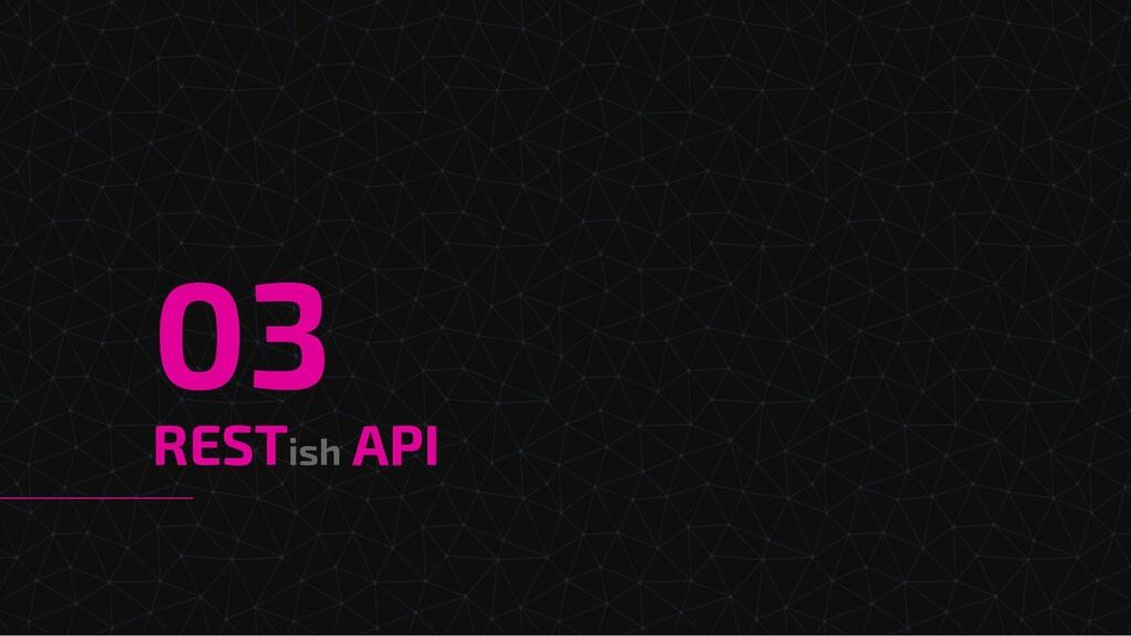 RESTish API 03