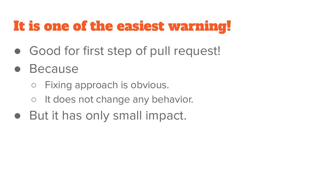It is one of the easiest warning! ● Good for fir...