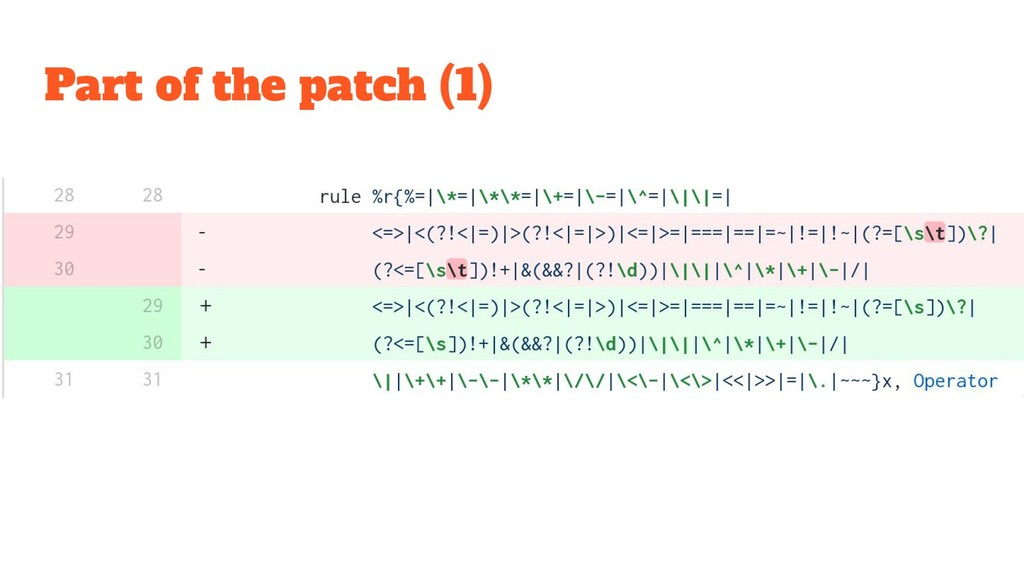 Part of the patch (1)