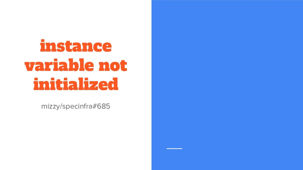 instance variable not initialized mizzy/specinf...