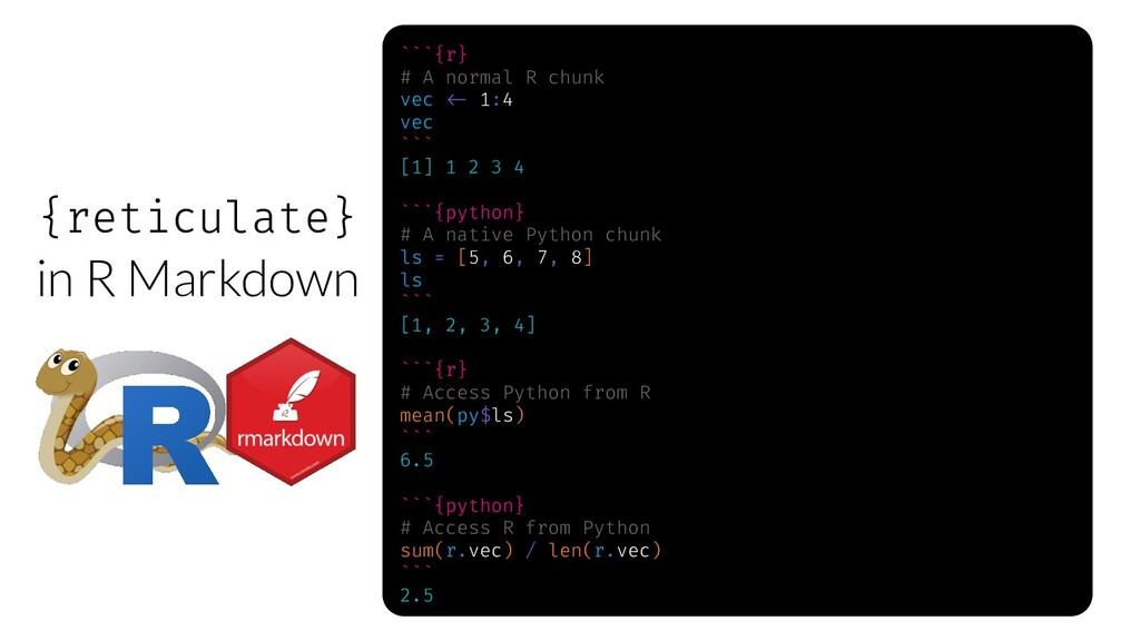 ```{r} # A normal R chunk vec w- 1:4 vec ``` [1...