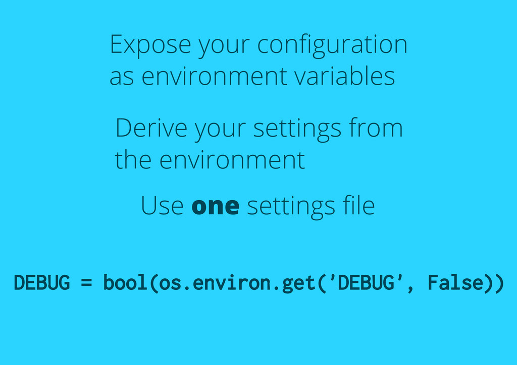 Expose your configuration as environment variabl...