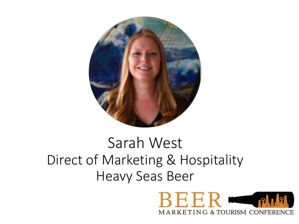 Sarah West Direct of Marketing & Hospitality He...