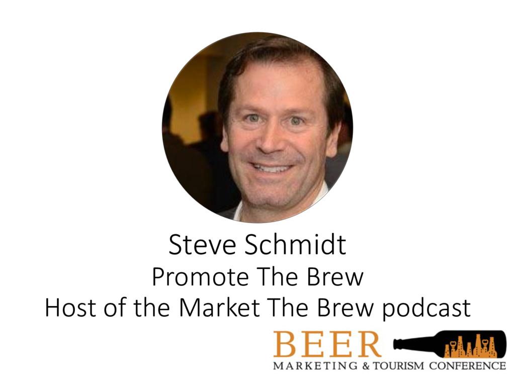 Steve Schmidt Promote The Brew Host of the Mark...